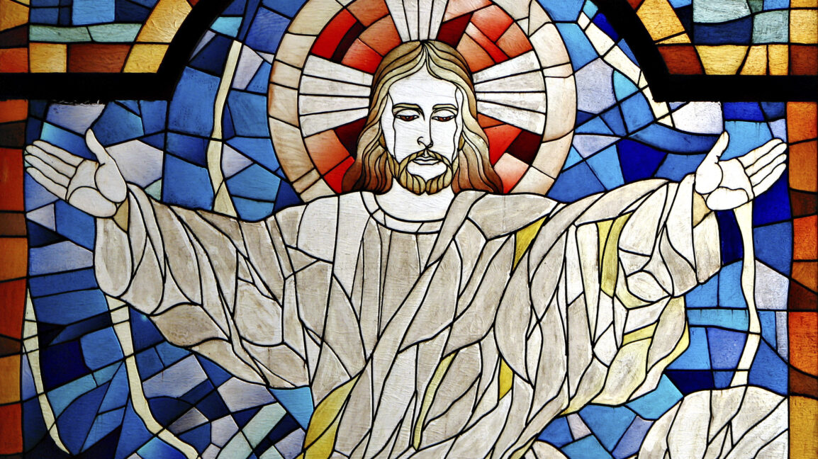 Jesus with open arms welcoming you
